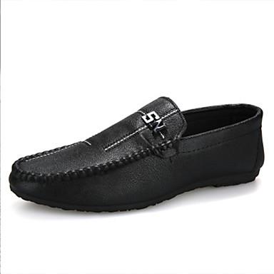 Ανδρικά Παπούτσια άνεσης Φο Δέρμα Φθινόπωρο / Ανοιξη καλοκαίρι Μοκασίνια & Ευκολόφορετα Μαύρο / Μπεζ
