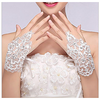 Dongguan ho10701q1e59 brudens blonderhansker fingerperlede perlerhansker hvite