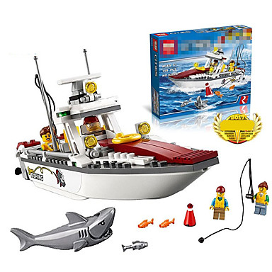ENLIGHTEN Τουβλάκια 45pcs Άνιμαλ Πλοίο / Shark / Πειρατές Σκάφος Αγορίστικα Δώρο