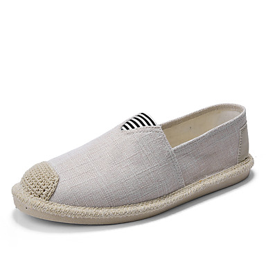 Ανδρικά Παπούτσια άνεσης Λινό Φθινόπωρο / Ανοιξη καλοκαίρι Καθημερινό / Κολεγιακό Μοκασίνια & Ευκολόφορετα Αναπνέει Μαύρο / Μπεζ / Γκρίζο