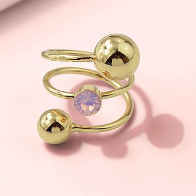 billige Motering-Dame Ring 1pc Gull Legering Stilfull Unikt design Mote Gave Daglig Smykker geometriske Twist Circle Kul