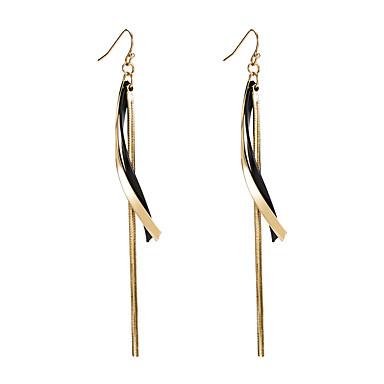 levne Dámské šperky-Dámské Vícebarevná Visací náušnice Dvojitý řetízek Vertikálně stylové Luxus korejština Elegantní Náušnice Šperky Zlatá Pro Denní 1 Pair