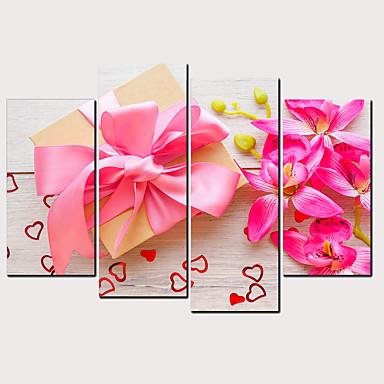 Estampado Laminado Impressão De Canvas - Casamento Floral / Botânico Clássico Modern 4 Painéis Art Prints