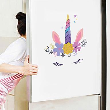 χαριτωμένα αυτοκόλλητα τοίχου κινουμένων σχεδίων - αυτοκόλλητα ζωικού τοίχου ζώα / τοπίο αίθουσα μελέτης / γραφείο / τραπεζαρία / κουζίνα-e