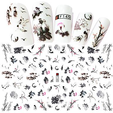 1 pcs Αυτοκόλλητα Σειρά κινούμενων σχεδίων / Άνθινο Θέμα τέχνη νυχιών Μανικιούρ Πεντικιούρ Mini Style / Ασφάλεια / Εργονομικός Σχεδιασμός Στυλάτο / Απλός