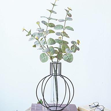 Flores artificiais 2 Ramo Clássico Contemporâneo Moderno Plantas Flor de Mesa
