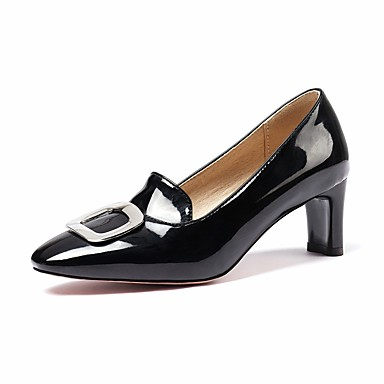 voordelige Dameshakken-Dames Hoge hakken Vierkante teen schoenen Heterotypic Heel Vierkante Teen PU Zoet / minimalisme Lente & Herfst Geel / Rood / Amandel