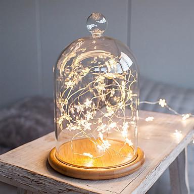 3m små pentagramstrenglampe 30 leds varm hvit / kald hvit valentine jul dekorativ 5 v 1 sett