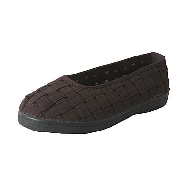 Ανδρικά Παπούτσια άνεσης Βαμβάκι Καλοκαίρι Καθημερινό Μοκασίνια & Ευκολόφορετα Αναπνέει Γκρίζο / Καφέ