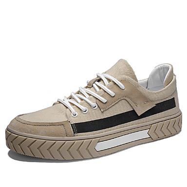 Ανδρικά Παπούτσια άνεσης Πανί Καλοκαίρι Καθημερινό Αθλητικά Παπούτσια Περπάτημα Αναπνέει Μπότες στη Μέση της Γάμπας Λευκό / Κίτρινο