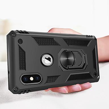 povoljno iPhone maske-luksuzni oklop mekani otporan na udarce slučaj za iphone xs max iphone x iphone x iphone 8 plus iphone 8 iphone 7 plus iphone 7 iphone 6 plus iphone 6 silikonski automobil nosač prsten slučaju \ t