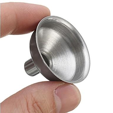 Mini aço inoxidável funil líquido boca larga ferramenta de conservas de óleo de cozinha