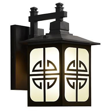 luzes de parede ao ar livre preto à prova d 'água / 1 pc e26 / e27 lâmpada branca quente incluem para iluminação exterior / pátio / jardim / 220-240 v / 110-120 v