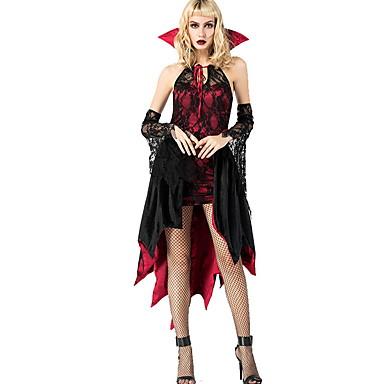 Diários de Vampiros Ocasiões Especiais Mulheres Tema Fadas Dia Das Bruxas Espetáculo Fantasias de Cosplay Festa temática Fantasias Mulheres Fantasia de Dança Poliéster Renda