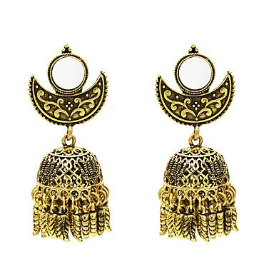 Γυναικεία Σκουλαρίκι Πεπαλαιωμένο Στυλ Χαρά Σκουλαρίκια Κοσμήματα Χρυσό / Ασημί Για Καθημερινά Φεστιβάλ 1 Pair