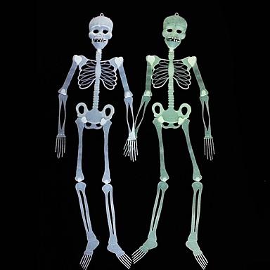 Yiwu ho1070723oul Halloween-dekorasjoner lysende skalleskjelett 90 cm tilfeldige farger