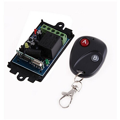cheap Smart Switch-DC12V 1CH RF Wireless Remote Control Switch/Learning code 10A Relay Receiver/Led Power ON/OFF switch 433mhz