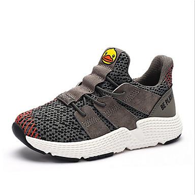 preiswerte Schuhe für Kinder-Jungen Komfort Kunststoff Sneakers Kleine Kinder (4-7 Jahre) / Große Kinder (ab 7 Jahren) Schwarz / Beige / Dunkelgrau Frühling / Herbst