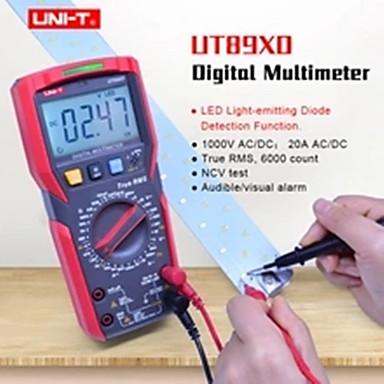 uni-t ut89xd trms ψηφιακό πολύμετρο tester ac dc βολτόμετρο αμπερόμετρο χωρητικότητα αντίσταση συχνότητας tester με οδήγησε δοκιμή