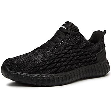 Homens Sapatos Confortáveis Couro Ecológico Primavera Verão Formais / Colegial Tênis Respirável Preto / Cinzento Escuro / Cinzento Claro / Não escorregar