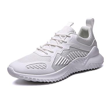 Ανδρικά Παπούτσια άνεσης Δίχτυ Καλοκαίρι Καθημερινό Αθλητικά Παπούτσια Πεζοπορία / Περπάτημα Αναπνέει Μαύρο / Λευκό / Μπεζ