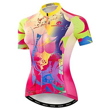 21Grams Γυναικεία Κοντομάνικο Φανέλα ποδηλασίας Ροζ Ουράνιο Τόξο Ποδήλατο Αθλητική μπλούζα Μπολύζες Ποδηλασία Βουνού Ποδηλασία Δρόμου Αναπνέει Ύγρανση Γρήγορο Στέγνωμα Αθλητισμός / Ελαστίνη