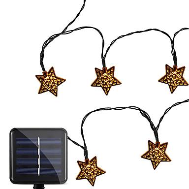 3m φώτα σειράς πενταγράμμου 10 λυχνίες ζεστό λευκό / κρύο λευκό / valentine Χριστουγεννιάτικο πάρτι διακοσμητικά ηλιακά 1 σετ