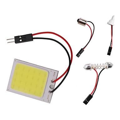 preiswerte Car Accessories-1 stück t10 ba9s girlande lichtkuppel auto cob led panel licht dc 12 v 3 watt weiß mit 3 adapter für auto auto innenbeleuchtung lesen karte lampe