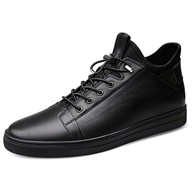 Ανδρικά Δερμάτινα παπούτσια Νάπα Leather Χειμώνας / Φθινόπωρο & Χειμώνας Αθλητικό / Καθημερινό Αθλητικά Παπούτσια Περπάτημα Μη ολίσθηση Μαύρο