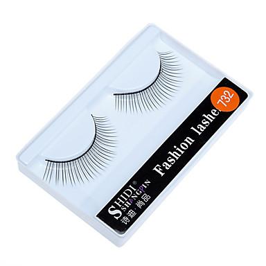 Cílios 2 pcs Simples Feminino Ultra Leve (UL) Confortável Casual Conveniência Fibra Roupa Diária Férias Tiras Completas de Cílios - Maquiagem Maquiagem para o Dia A Dia Clássico Cosmético Artigos