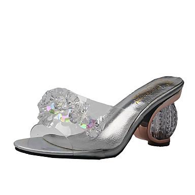 voordelige Damessandalen-Dames Sandalen Comfort schoenen Heterotypic Heel PU Zomer Zilver