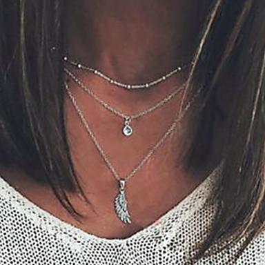 Dame Halskjede lagdelte Hals Chrome Sølv 41.2 cm Halskjeder Smykker 1pc Til Daglig Skole Gate Ferie Festival