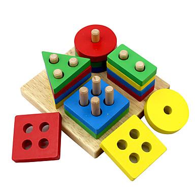Τουβλάκια Παιχνίδι ταξινόμησης σχήματος Χειροποίητο Παιδικά Όλα 1 pcs