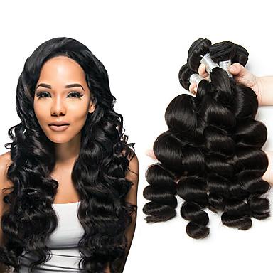 6 pakker Malaysisk hår Løse bølger Ubehandlet Menneskehår 100% Remy Hair Weave Bundles Hodeplagg Menneskehår Vevet Bundle Hair 8-28 tommers Naturlig Farge Hårvever med menneskehår Naturlig Ny ankomst