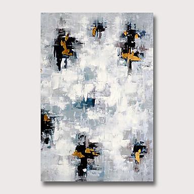 Hang malte oljemaleri Håndmalte - Abstrakt Moderne Uten Indre Ramme
