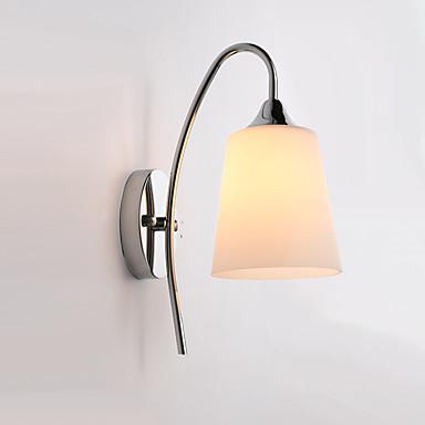 moderne glass ledet vegg sconce lampe lysarmatur innendørs soverom rom
