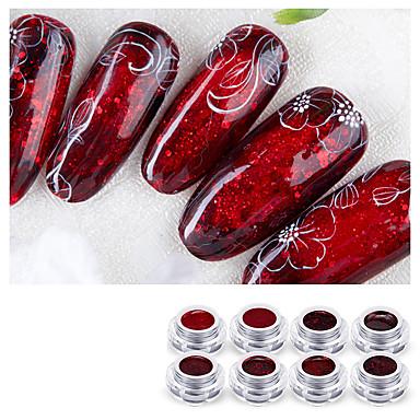levne Náčiní a vybavení-1 sada Plast + PCB + voděodolný epoxidový obal Nástroje na malování nehtů Pro Nehet na ruce Bezpečnost / Šetrný vůči životnímu prostředí / Ergonomický design Bílá série nail art manikúra pedikúra