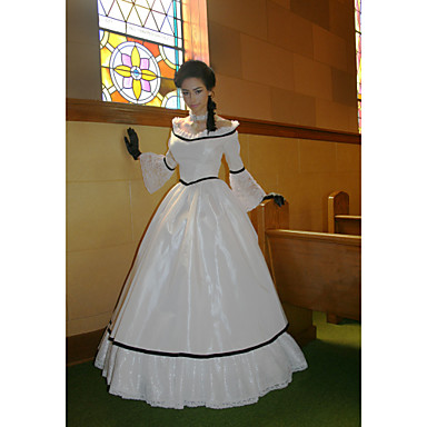 [$109.99] Duchess Victorian Ball Gown 1910s Edwardian Dress Party Costume  Women\'s Costume White Vintage Cosplay Masquerade Long Sleeve Floor Length  ...