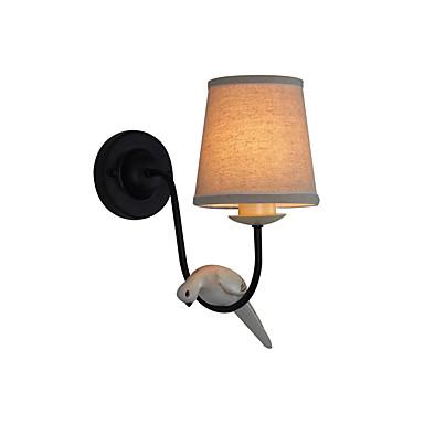 λυχνία τοίχου απλή και ρετρό σχεδιασμό για το υπνοδωμάτιο χώρο μελέτης και κομοδίνα λαμπτήρα κίτρινο ρητίνη σιδήρου ύφασμα τοίχο φως γύρο αμπαζούρ