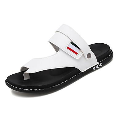 Ανδρικά Παπούτσια άνεσης PU Καλοκαίρι Σανδάλια Αναπνέει Μαύρο / Λευκό