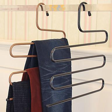 magiske bukser rack jern s-type multi-layer bukser henger garderobe lagring