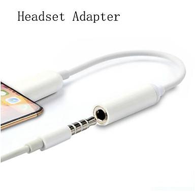 cheap Audio Cables-Lighting 3.5mm Audio Jack Splitter Converter Earphone Headphone Adapter For iPhone 7 8 XS Max X AUX Adapter Adaptador