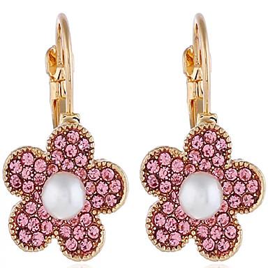 povoljno Modne naušnice-Žene Sitne naušnice Geometrijski Latica Naušnice Jewelry Pink Za Dnevno Rad 1 par