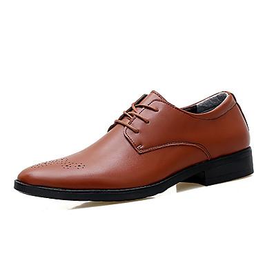 Ανδρικά Παπούτσια άνεσης PU Ανοιξη καλοκαίρι Καθημερινό Oxfords Μη ολίσθηση Λευκό / Μαύρο / Καφέ