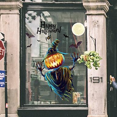 halloween gresskar lys vindu film&amp amp stickers dekorasjon dyr / mønster ferie / karakter / geometrisk PVC (polyvinylklorid) vinduet klistremerke