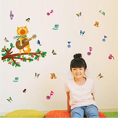 Dekorative Mur Klistermærker - Fly vægklistermærker Arabesk / Blomstret / Botanisk Soverom / Innendørs
