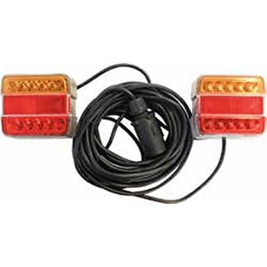 billige Motorsykkel & ATV tilbehør-2stk motorsykkel lyspærer ledet arbeidslys rød oransje for universal / motorsykler alle år