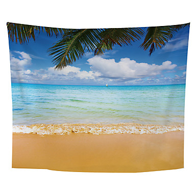 Hage Tema / Blomster Tema Veggdekor polyester Middelhavet / Moderne Veggkunst, Veggtepper Dekorasjon
