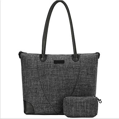 preiswerte Taschensets-Herrn Reißverschluss Rindsleder Bag Set 2 Stück Geldbörse Set Dunkelgray / Hell Gray