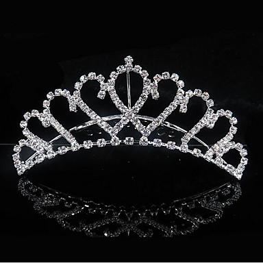 Dame søt stil Brude Prinsesse Kubisk Zirkonium Sølvplett Legering Bryllup Fest - Ensfarget